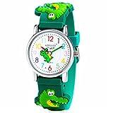 Vavna Little Girls Boy Waterproof 3D Watch Cute Cartoon Digital Wrist watches Kids Children Christmas Gift (Crocodile)