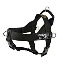 Dean & Tyler Universal No Pull Dog Harness, Clear Patches, Large, Fits Girth, 79cm to 107cm, Black