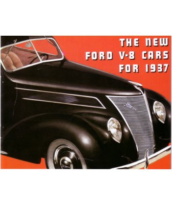 1937 ford sales brochure literature advertisement options for Ford motor company auto parts