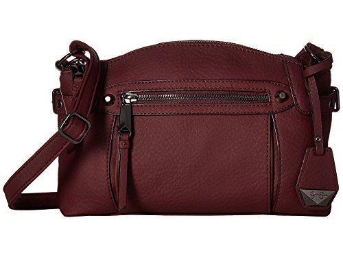 Jessica Simpson Women's Viola Crossbody Maroon Crossbody Bag
