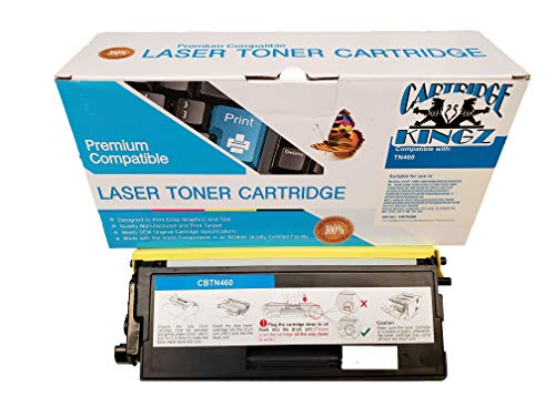 Cartridge Kingz TN460 Compatible Toner Cartridge for use in Brother Printers. Yields up to 6,000 - Tn460 Laser Toner