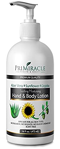 PriMiracle Natural Unscented Hand and Body Lotion to Moisturize Dry Skin (Beauty Renew Illuminating)