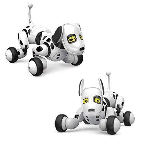 Nice Naladoo Digital Toy Canine, RC Sensible Canine Sing Dance Strolling Distant Management Robotic Canine Digital Pet Children Toy  Critiques