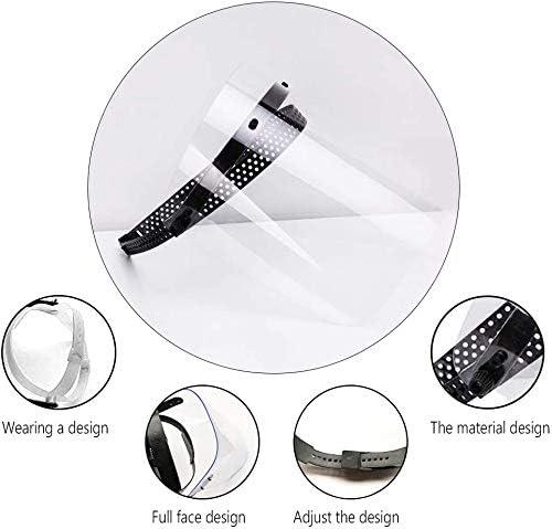 Gnohnay 2 Piezas de Visera Protectora Facial de Seguridad Mas-k Gorra Protectora Transparente Protectora antisaliva Ajustable Mas-k