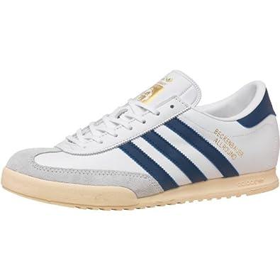 Herren Adidas Originals Beckenbauer All Round Sneaker Weiß/Blau/Gold Jungs  Gents, Elfenbein