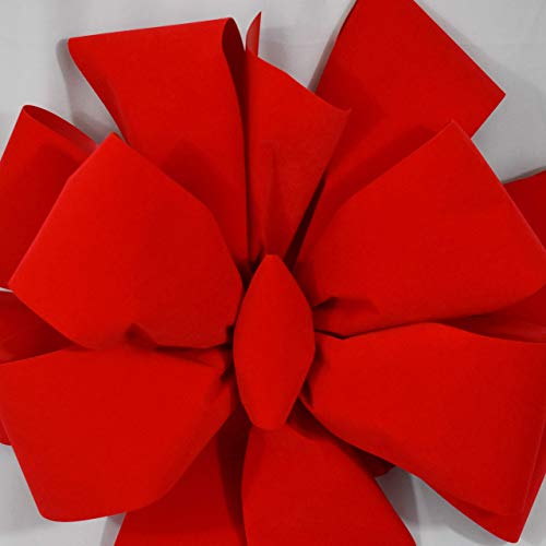 Outdoor Christmas Ribbon.2 Big Red Bows 24 99 Ea Free Shipping Large Red Velvet Christmas Bow 15 W 44 L 10 Loops 4 Ribbon Outdoor Indoor Decorations For Wreaths Tree