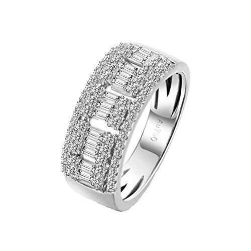 18K Gold Ring(Au750),0.7Ct Diamond Ring Wedding Engagement Ring for Women Bride Size 8 by Epinki