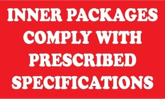 NMC DL169AL 3'' x 5'' Hazardous Materials Dot Shipping Label - ''Inner Packages Comply With Prescribed Specifications'', PS Paper, 5 Rolls of 500 pcs by National Marker