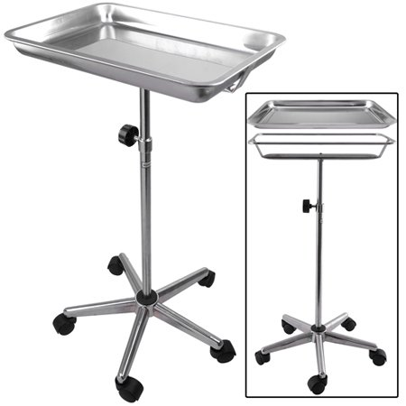 Mobile Center Post Medical Mayo Tattoo Body Piercing Instrument Stand with Removable Tray 5 Legs for Tattoo Parlor by Generic