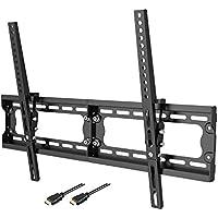Loctek Super Slim T7M Low Profile 10° Tilt TV Wall Mount Bracket, 165 lbs Loading Capacity, Max VESA 600 x 400, for 32-65 inch LCD LED Plasma TVs