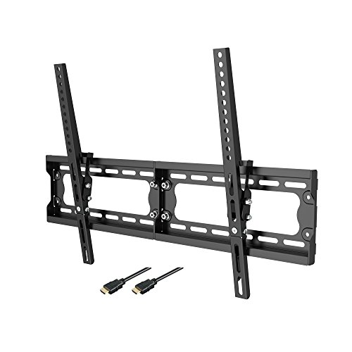 Loctek Super Slim T7M Low Profile 10° Tilt TV Wall Mount Bracket, 165 lbs Loading Capacity, Max VESA 600 x 400, for 32-65 inch LCD LED Plasma TVs