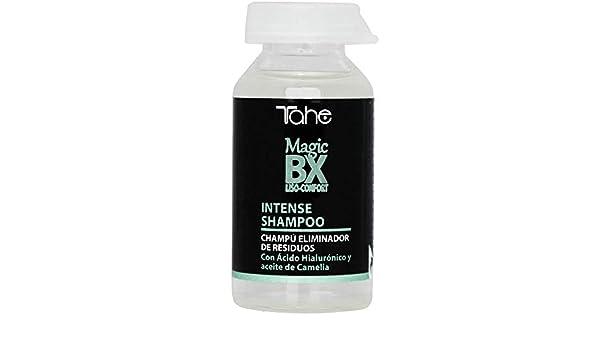 Tahe Magic BX Champú Liso-Confort Intense Eliminador de Residuos con Ácido Hialurónico y Aceite de Camelia, 20 ml: Amazon.es: Belleza