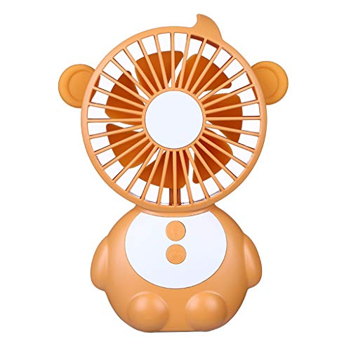 Elevin(TM)  New 2019 Monkey Elf Table Fan is Also Mobile Power (Orange) -