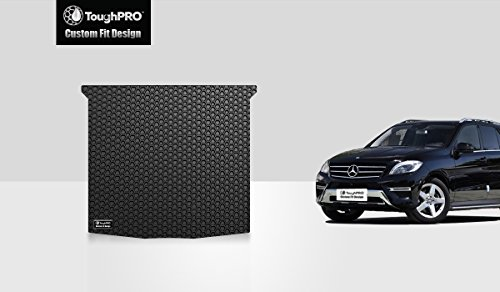 ToughPRO Cargo/Trunk Mat Compatible with Mercedes-Benz ML350 - All Weather - Heavy Duty - (Made in USA) - Black Rubber - 2012, 2013, 2014, 2015