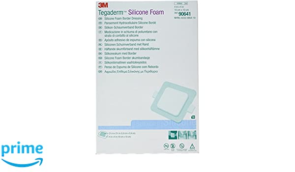 Amazon.com: 3M Tegaderm Silicone Foam Border Dressing 90641: Industrial & Scientific