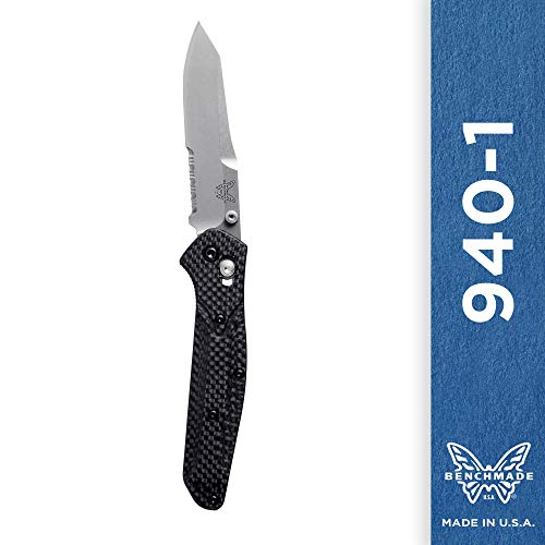 Collection Great Outdoors (Benchmade - 940-1 Knife, Reverse Tanto Blade, Serrated Edge, Satin Finish, Carbon Fiber Handle)