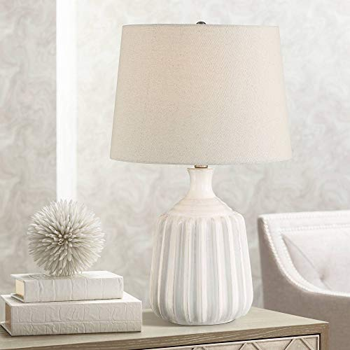 - Logan Ribbed Ceramic Modern Table Lamp by 360 Lighting