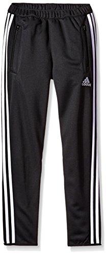 adidas Youth Tiro 13 Training Pant (Black/White, Youth Small)(8 Big -