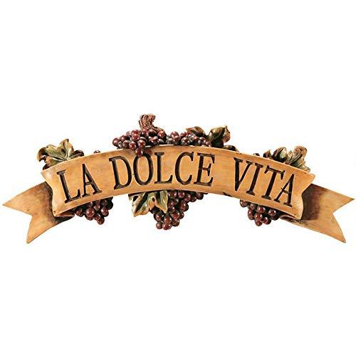 Design Toscano La Dolce Vita Wall Plaque from Design Toscano