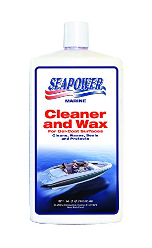 Seapower SQ-32 Marine Cleaner and Wax with Carnauba and Silicone - 32 oz.