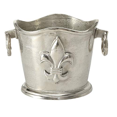 - WHW Whole House Worlds Luxury Champagne Bucket with French Flair, Fleur de Lis Crest, Hand Cast Aluminum, Old World Craft Finish, Up to 8 Bottles, 14 1/4 L x 11 1/2 W x 9 3/4 H Inches