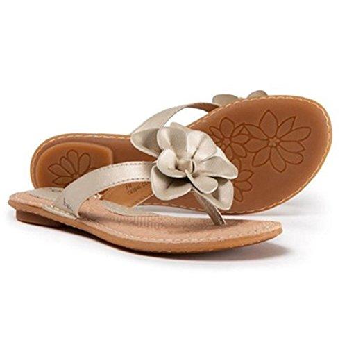 B.O.C. Eaton Champagne Vegan Leather Women's Sandals (Size: 7)