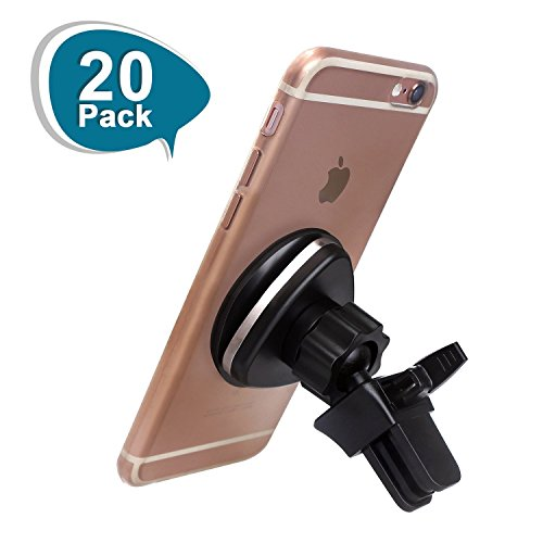 LUXEAR Magnetic Phone Mount Universal Car Air Vent Phone Holder for iPhone X 8 8 Plus 7 SE 6s 6 Plus 6 5s 5 4s 4, Samsung Galaxy S6 S5 S4, LG Nexus Sony Nokia 20 Pack by LUXEAR