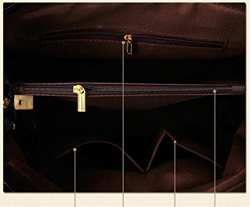 HerHe Body Top Cross Handle Size Women's Medium Purse Bag Satchels Black Handbags Bowling RrxUqRAwpW