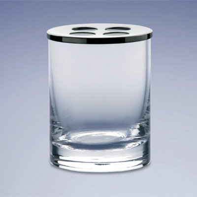 - Windisch by Nameeks Rounded Crystal Glass Toothbrush Holder Finish: Satin Nickel w/Frosted Glass
