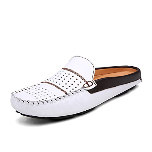Soft Scuff Slip Loafters Shoes Go Slippers Leather Mens White Tour Comfortable on gwxI4tOUqS