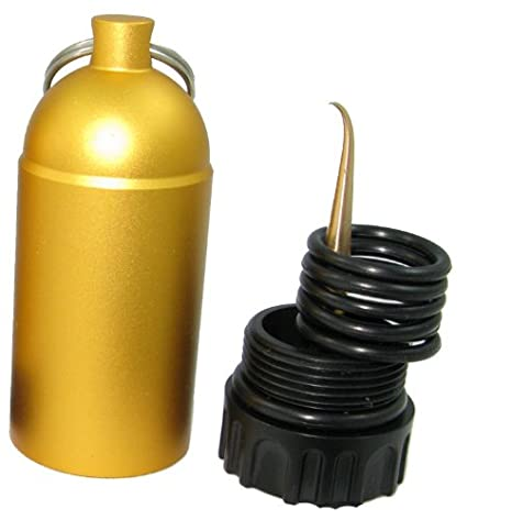 Storm Mini Tank with Pick and O-Rings - Yellow for Scuba Divers Storm Accessories