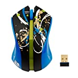 G-Cube Paintsplash Collections 2.4Ghz Wireless Mouse (Teal)