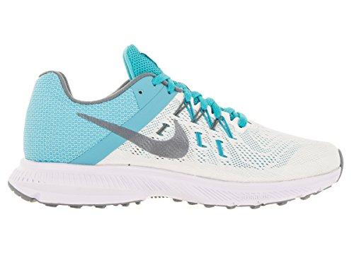 Nike Wmns Zoom Winflo 2, Chaussures de Running Entrainement Femme, Taille Blanc (voile / hématite métallique - bleu gamma - blanc)