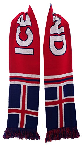 RUFFNECK National Soccer Team Iceland Scarf, Blue, One Size