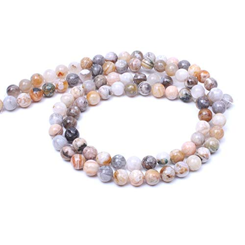 Calvas New Stone Beads Bamboo Onyx Beads for Jewelry Making Spacer Beads DIY Bracelet Necklace Material Loose Beads Wholesale - (Item Diameter: 4mm)