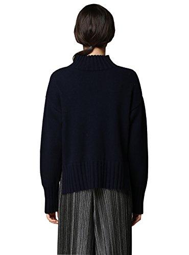 MEEFUR Womens Real Mink Fur Knitted Cappa with Fox Fur Collar Winter Warm Wedding Cloak Soft Natural Fur Cape