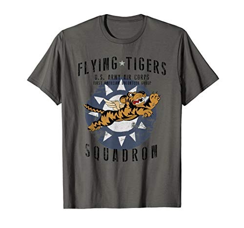 (Flying Tiger's WWII Insignia Vintage WW2 Air Corps T-Shirt)