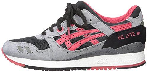 ASICS GEL-Lyte III Retro Running Shoe, Black/Classic Red, 11.5 M US
