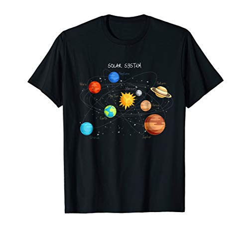 Solar System Planets T Shirt Sun, Space and Science Tee (Little Big Planet Kids Tshirt)