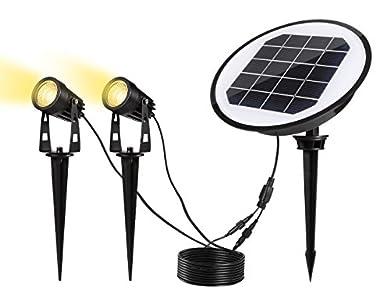 GreenClick Lampe de l'éxtérieur LED Lampe de Jardin Spot de l'éxtérieur (2 lot de solaire)