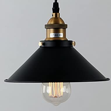 LightInTheBox 60W Retro Pendant Light with Metal Umbrella Shade in Old Factory Style Traditional Ceiling Lamp Fixture 110-120V
