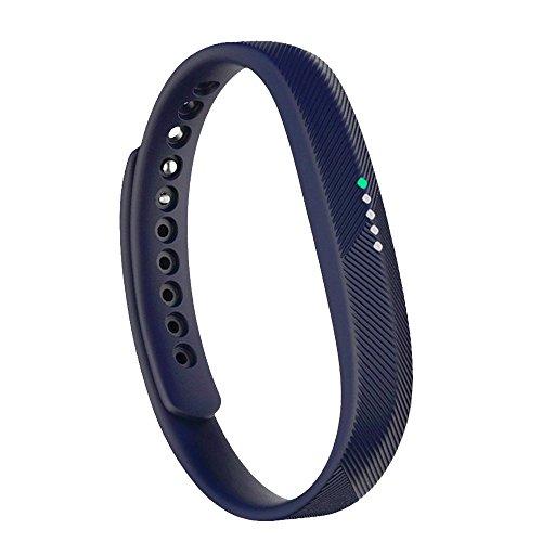 Bands for Fitbit Flex 2/Fit bit flex2, Adjustable Replacement Wrist Band for Fitbit Flex 2 Fitness Smart Watch Small Large Men Women (No Tracker) (Navy Blue, L) ()