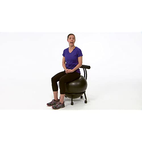 Stability Ball Desk Chair With 55cm Yoga Ball Purple Gaiam Adjustable Custom Fit Balance Ball Chair