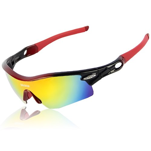 9e14e48007 RIVBOS 805 POLARIZED Sports Sunglasses with 5 Set Interchangeable Lenses  for Cycling - Buy Online in Oman.