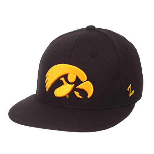 official photos 53601 f75ac Zephyr NCAA Iowa Hawkeyes Men s M15 Fitted Hat, 7 3 8, Black