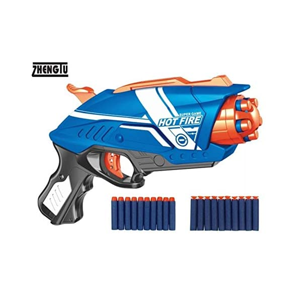 ZHENGTU Foam Blaster Gun Toy with 20 Bullets (Super Gun)