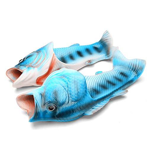 Unisex Fish Slippers Beach Fish Slippers Animal Slippers Animal Fish Slippers (0/US Childrens:8 M - 9 M, Childrens : Blue)