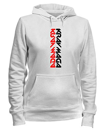 Shirtshock Felpa TAM0096 Bianca MAGA T Donna KRAV Cappuccio A7TPfBxq