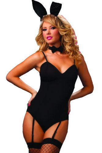 Bunny Costume For Adults (Seven Til Midnight Women's Hop Bunny Costume, Black, One Size)