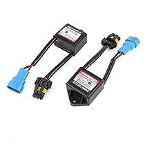 DealMux Par Preto Shell Aviso Erro Decoder Canceller Capacitor HID Luz
